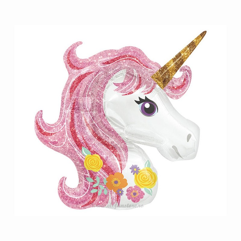 Balon Unicorn Magic Pink 120cm