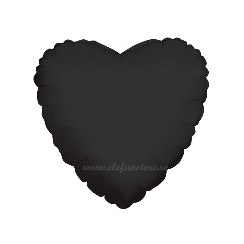Balon Inima Neagra Pastel 45cm