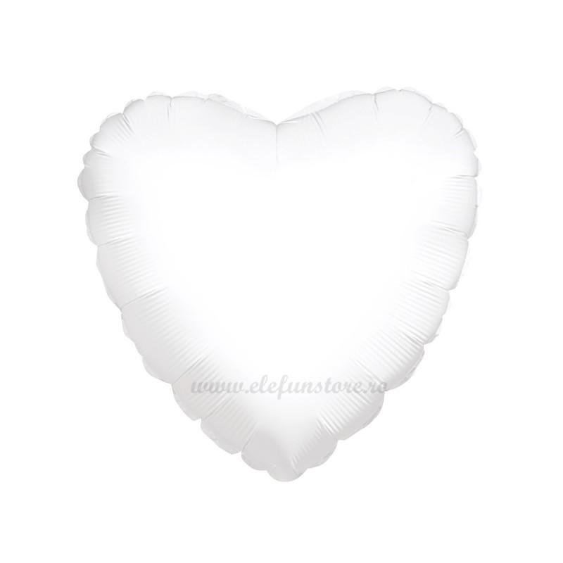 Balon Inima Alba Pastel 45cm