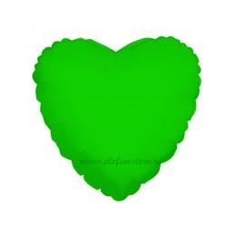 Balon Inima Verde Lime Metalizata 45cm