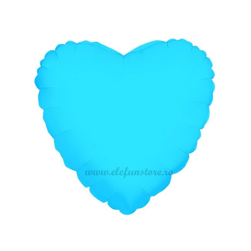 Balon Inima Bleu Metalizata 45cm