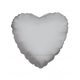 Balon Inima Argintie Metalizata 45cm
