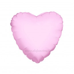 Balon Inima Roz Metalizat 45cm