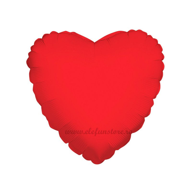 Balon Inima Rosie Metalizata 45cm