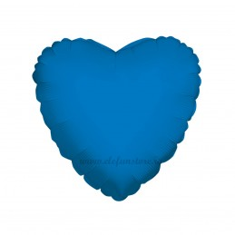 Balon Inima Albastra Metalizata 45cm