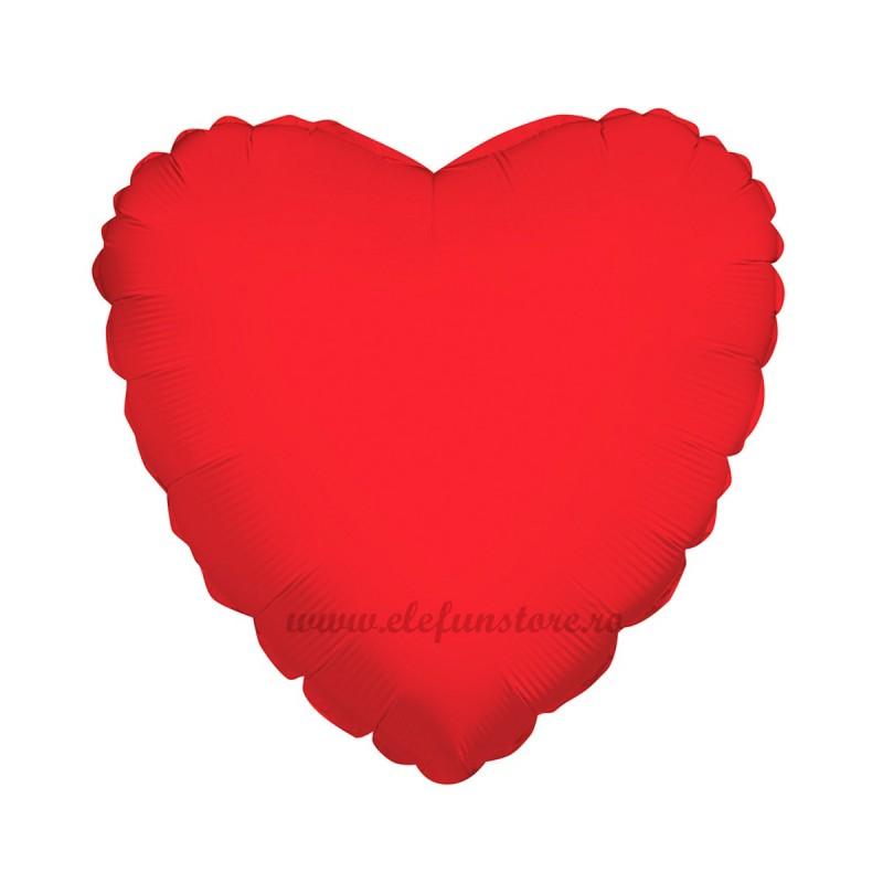 Balon Inima 60 cm Rosu Metalizat