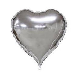 Balon Inima 60 cm Argintiu Metalizat