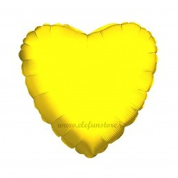 Balon Inima 60 cm Auriu Metalizat