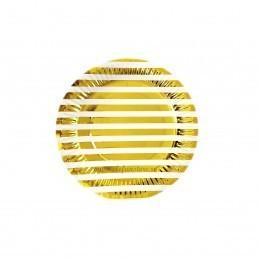 Set 12 farfurii Aurii cu Dungi 18cm