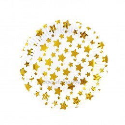 Set 12 farfurii Aurii cu Stelute 23cm