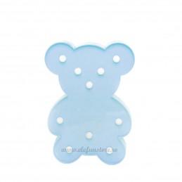 Decoratiune LED Ursulet Bleu