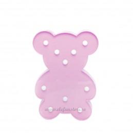 Decoratiune LED Ursulet Roz