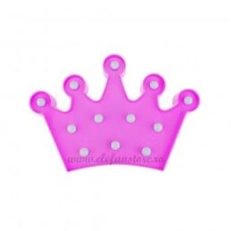 Decoratiune LED Coroana Roz