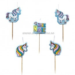 Set 5 lumanari Unicorni