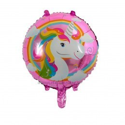 Balon Rotund Unicorn Curcubeu