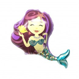 Balon Sirena Purple 102cm