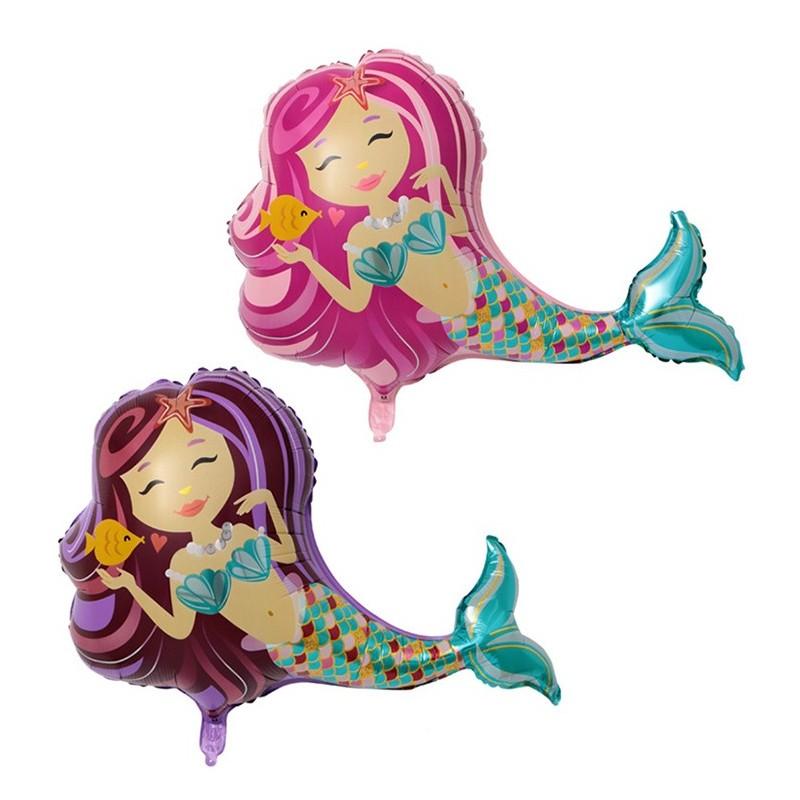 Balon Sirena Pink 102cm
