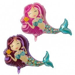 Balon Sirena Purple 102cm