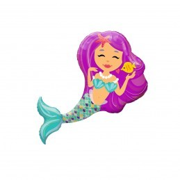 Mini Balon Sirena Pink 45cm