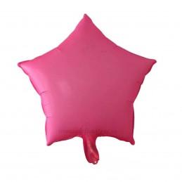 Balon Stea Roz Neon 45cm