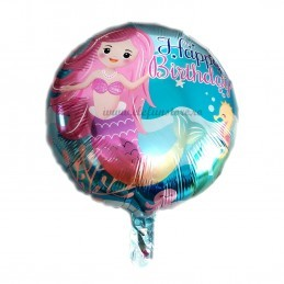 Balon Sirena Happy Birthday