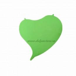 Balon Inima Verde Curbata Neon 45cm