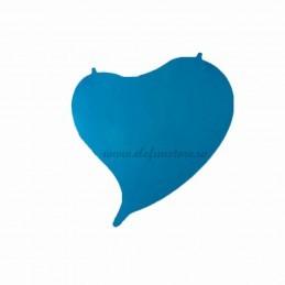 Balon Inima Curbata Bleu Neon