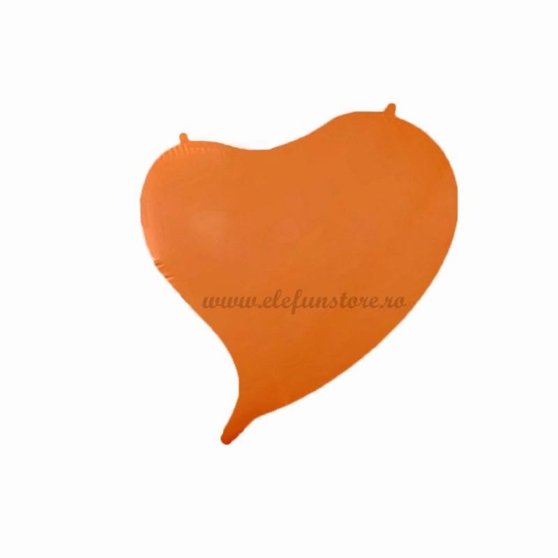Balon Inima Curbata Portocaliu Neon