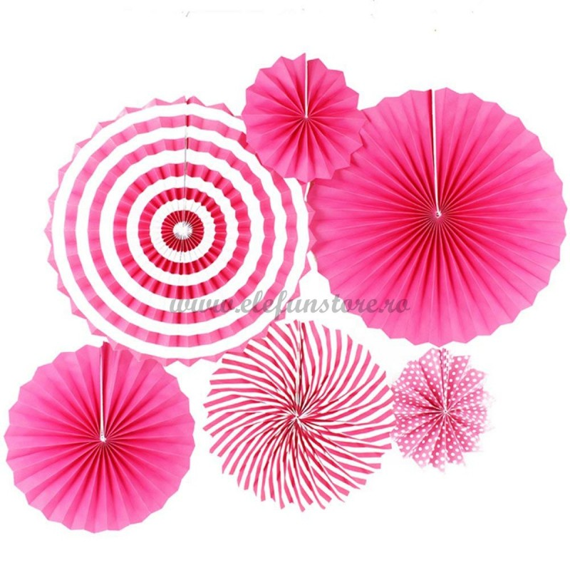 Set 6 rozete evantai roz