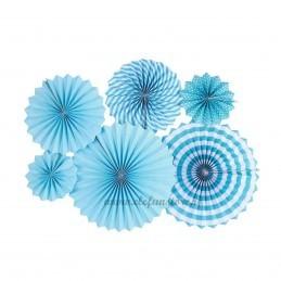 Set 6 rozete evantai bleu
