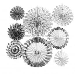 Set 8 rozete evantai argintii