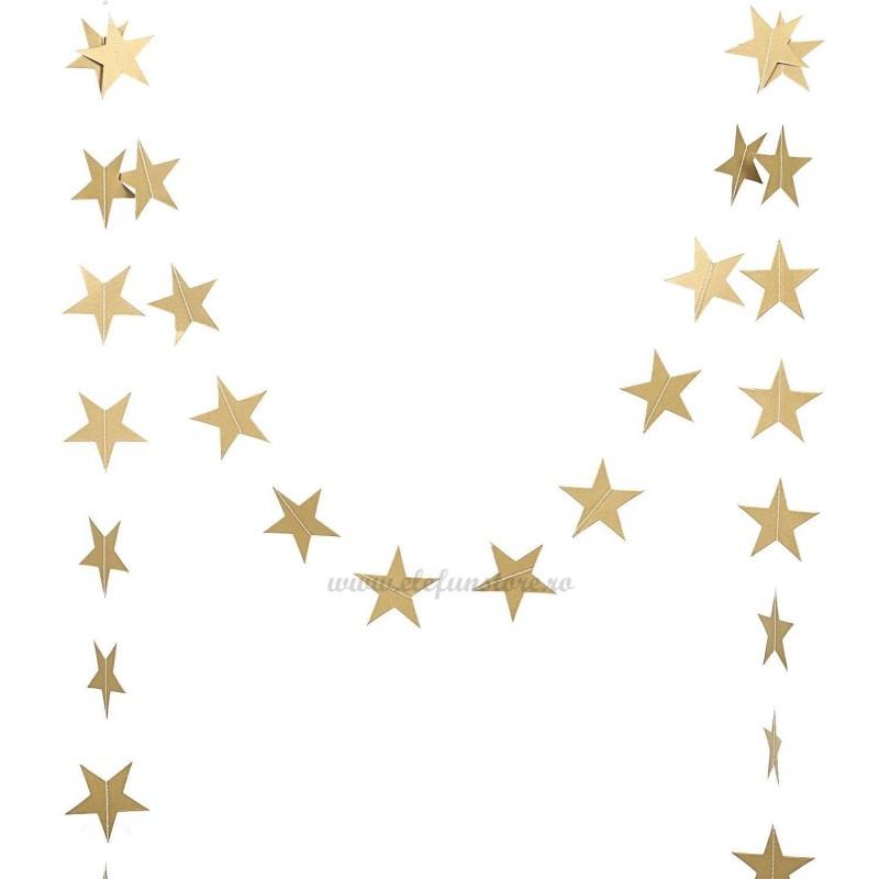 Ghirlanda 26 stelute aurii 3m