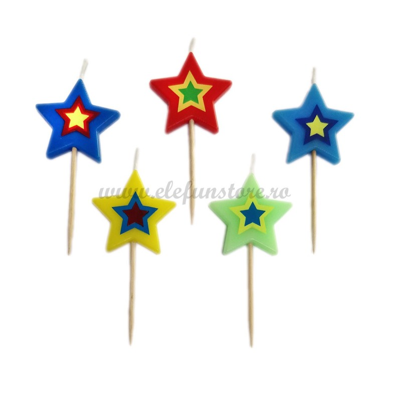 Set 5 lumanari Star