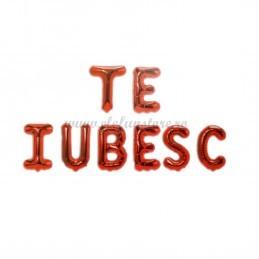 Set Litere Rosii TE IUBESC