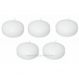 Set 5 lumanari plutitoare albe