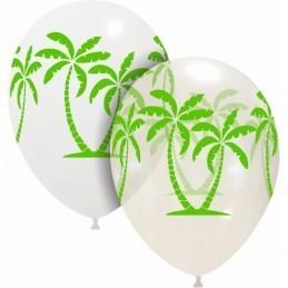 Set 10 baloane albe Palmier