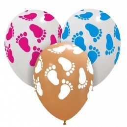 Set 10 baloane Piciorus Baietel