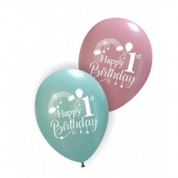 Set 10 baloane Roz Birthday Girl