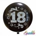 Balon Jumbo 18 cu sclipici argintiu
