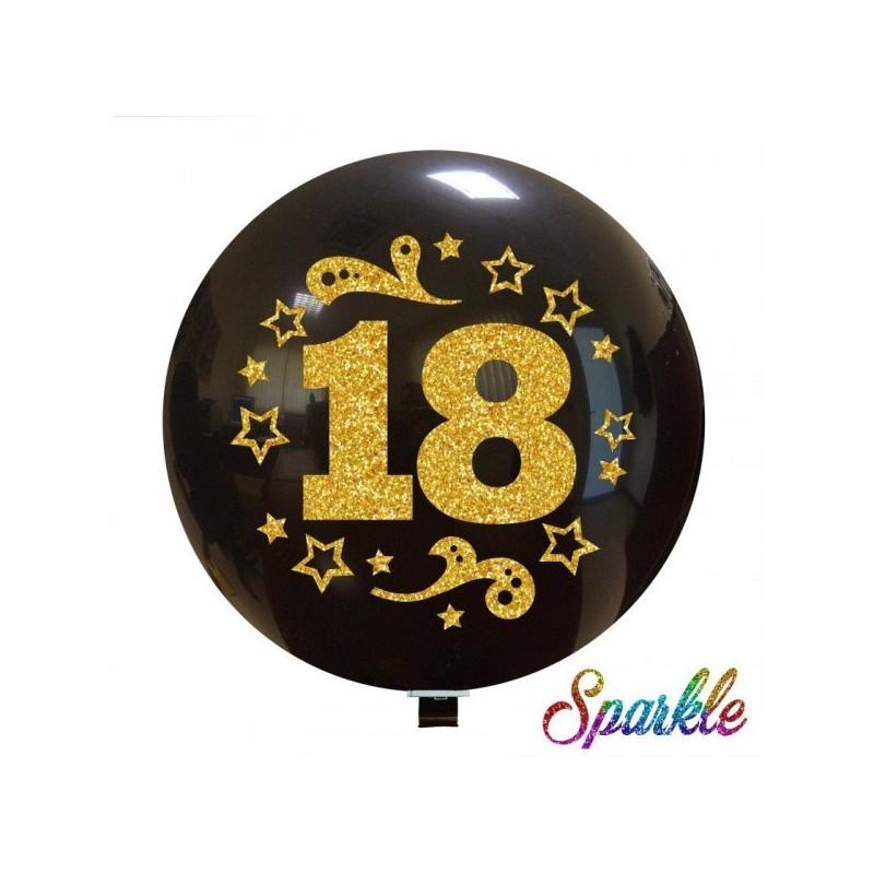 Balon Jumbo 18 cu sclipici auriu