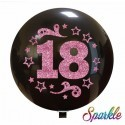 Balon Jumbo 18 cu sclipici roz