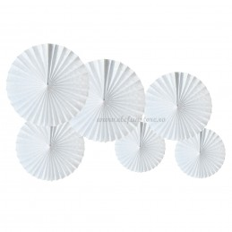 Set 6 rozete evantai albe