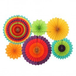 Set 6 rozete evantai multicolore