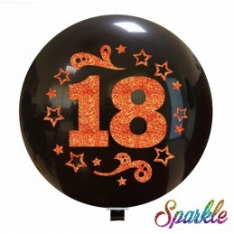 Balon Jumbo 18 cu sclipici rose gold