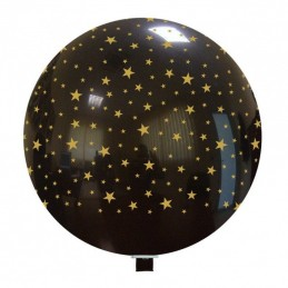 Balon Jumbo Negru cu Stelute Aurii
