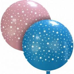 Balon Jumbo Albastru cu Stelute