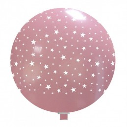 Balon Jumbo Roz cu Stelute