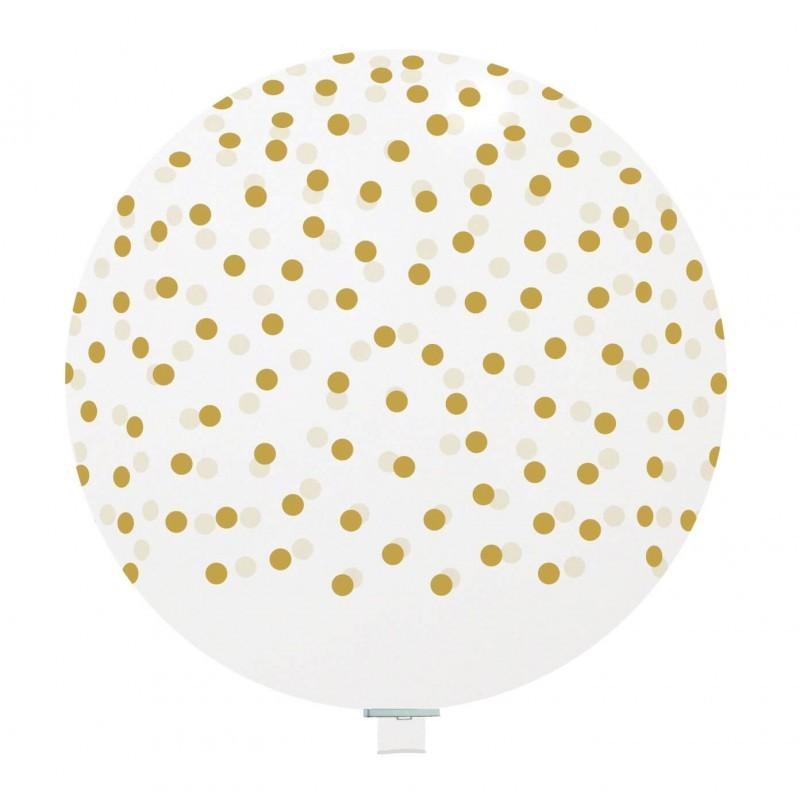 Balon Jumbo Transparent cu Bulinute