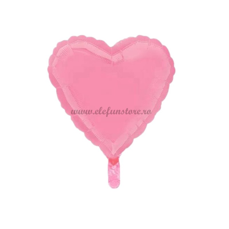 Balon Inima Roz Macaron