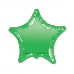 Balon Stea Verde Metalizata 45cm